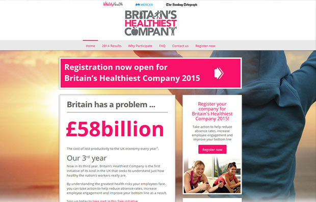 Britains Healthiest Company 2015