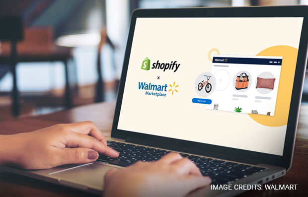 Wallmart merges with Shopify